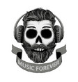 dj music icon in hand drawn style vector image vector image