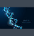 dna abstract 3d polygonal wireframe dna molecule vector image vector image