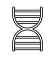 dna molecule genetic science line icon vector image vector image