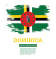dominica flag with brush strokes independence day vector image vector image