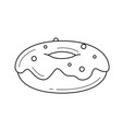 doughnut line icon vector image