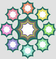 Eight part infographic element design vector image vector image