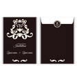 elegant vertical vip envelope it is executed in vector image vector image