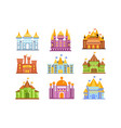 fairy tale castles and fortresses collection of vector image vector image