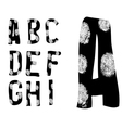 Fingerprint Alphabet Full A to I Set 1 of 3 vector image vector image