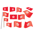 flag of Hong Kong vector image vector image