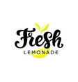 fresh lemonade logo badge vector image vector image