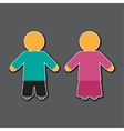 girl and boy icon in blue and pink vector image