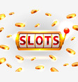 golden slots machine wins the jackpot vector image vector image