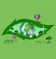 green eco friendly save the world and environment vector image vector image