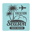 grunge summer travel logo design vector image vector image