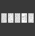 halloween ghost design set of social media vector image vector image