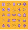 halloween icon set colorful halloween icons on an vector image