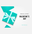 happy valentines day sale symbol of love sweet vector image vector image