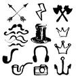 Hipster symbols set vector image vector image