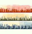 horizontal banners big cartoon city vector image vector image