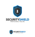 icon symbols protect shield key logo design vector image