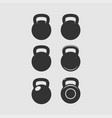 kettlebell icon sport fitness bodybuilding badge vector image