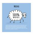merino sheep sketch for your design vector image