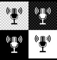microphone icon isolated on black white and vector image vector image