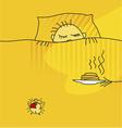 morning awake vector image