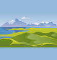 mountain landscape with hills vector image vector image