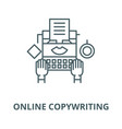 online copywriting line icon linear vector image vector image