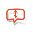 Orthodox cross message sticker orange vector image vector image