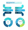 perspective arrow and circle infographic template vector image