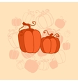 pumkin Thanksgiving card vector image vector image
