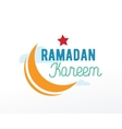Ramadan Kareem greeting typographic design vector image