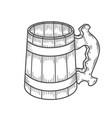 retro style beer mug vector image vector image