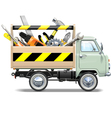 Retro Truck with Toolbox vector image vector image