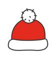 santa claus hat color icon vector image vector image