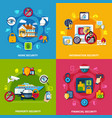 security concept icons set vector image vector image