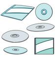 set of cd dvd vector image