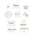 set of handdrawn floral logos vector image vector image