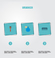 set of shop icons flat style symbols with scallop vector image