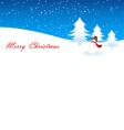 snowman xmas vector image vector image