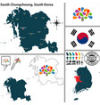south chungcheong province south korea vector image vector image