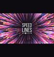 speed lines starburst effect burst vector image vector image