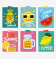 summer themed posters vector image vector image