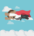 Super African businessman High speed Flying in Sky vector image vector image