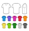 T-shirt in various colors vector image