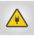 The electric plug icon Electric Plug symbol Flat vector image