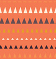 triangles in a row seamless pattern vector image