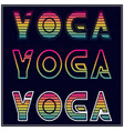 yoga t shirt design with different type color and vector image vector image