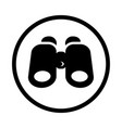 search icon - iconic design vector image