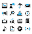 Internet website icons vector image