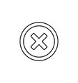 cross road icon vector image